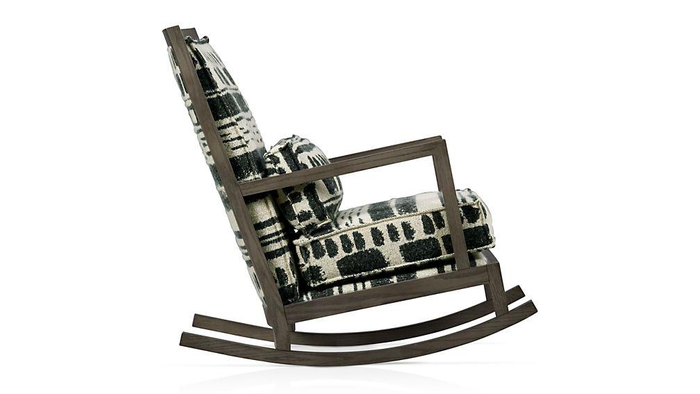 Jerimiah Fabric Back Rocking Chair