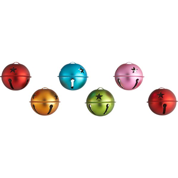 Set of 6 Jingle Bell Ornaments