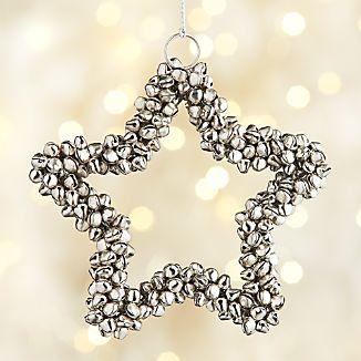 Silver Jingle Bell Star Ornament