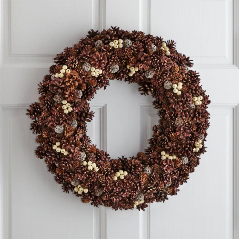 Jingleberry Large Pinecone Wreath