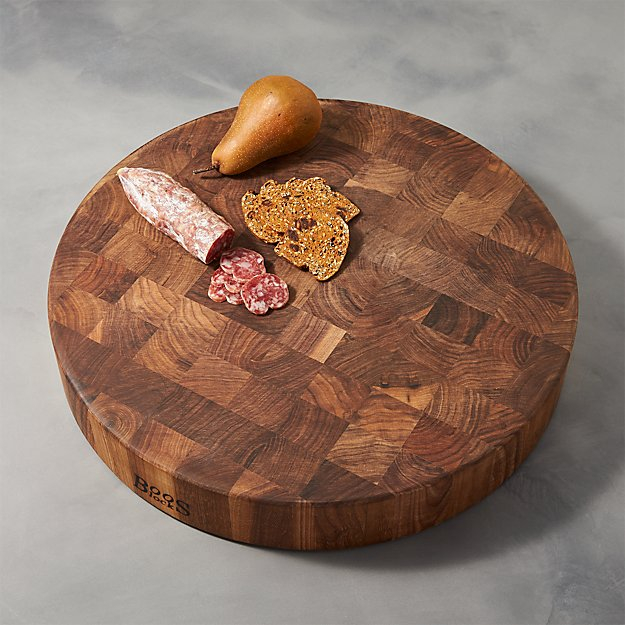 John Boos Walnut End Grain Cutting Board Crate and Barrel