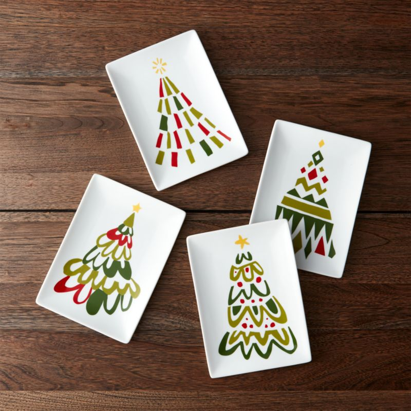 Jolly Tree Appetizer Plates Set of Four