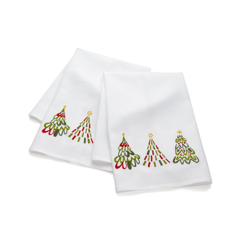 Jolly Trees Dish Towels Set of Two