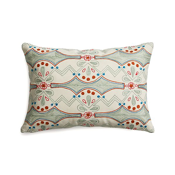 "Joon 18""x12"" Pillow with Feather-Down Insert"