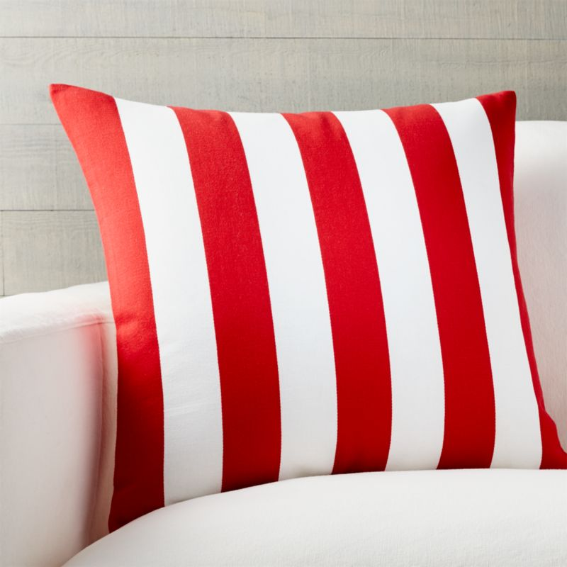 "Jubilee Stripe 20"" Pillow with Feather-Down Insert"