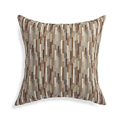 "Juma Neutral 23"" Pillow with Feather-Down Insert"
