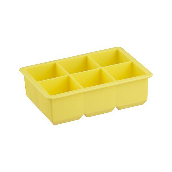 Jumbo Yellow Silicone Ice Cube Tray