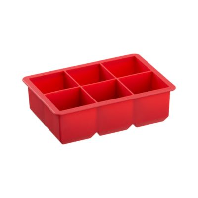 Jumbo Red Silicone Ice Cube Tray