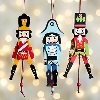 Jumping Jack Nutcracker Ornaments