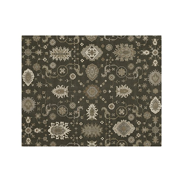 Crate And Barrel Bath Rugs: Juno Grey Wool 8'x10' Rug