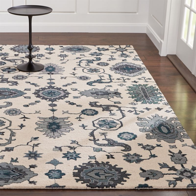 Juno Blue Wool Rug Crate And Barrel