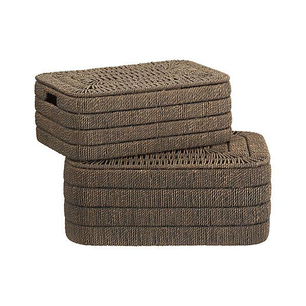 Set of 2 Kabud Lidded Baskets