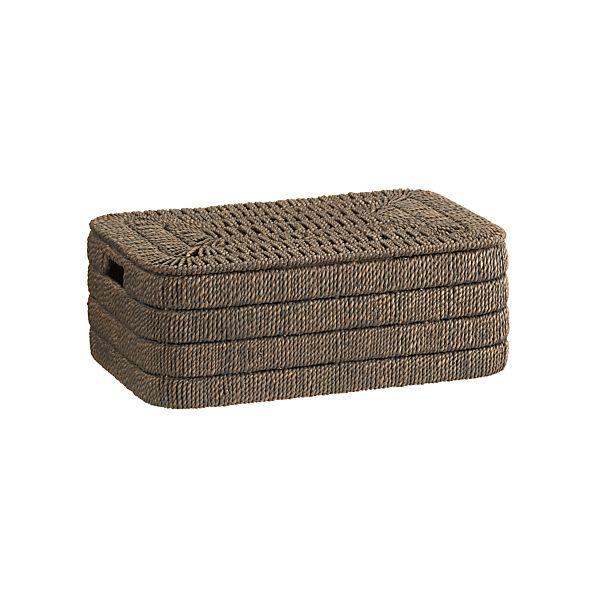 Kabud Small Lidded Basket