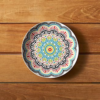 "Kaleidoscope 9"" Melamine Plate"