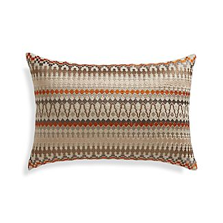 "Karma 18""x12"" Pillow with Feather-Down Insert"