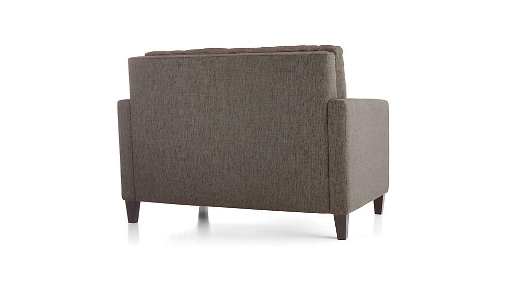 Karnes Twin Sleeper Sofa Vee Life Nickel Crate And Barrel
