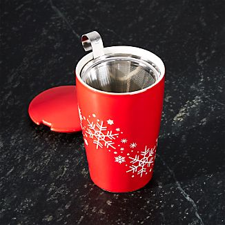 Kati Tea Infuser Cup Snowflake Red
