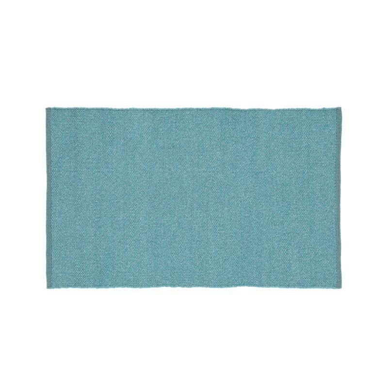 "Kavi Aqua Wool-Blend 30""x50"" Rug"