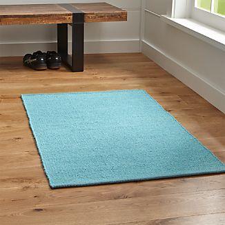Kavi Aqua Wool-Blend Rug