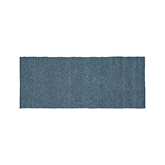Kavi Blue Wool-Blend 2.5'x6' Rug Runner