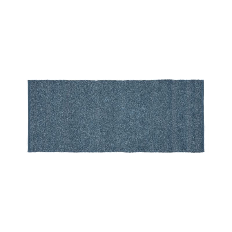 Kavi Blue Wool-Blend 2.5'x6' Rug Runner