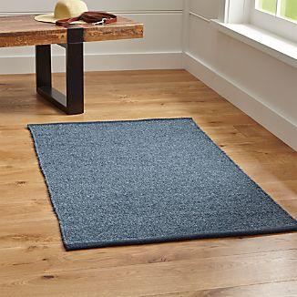 Kavi Blue Wool-Blend Rug