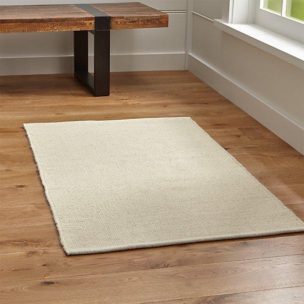 Kavi Natural Wool-Blend Rug