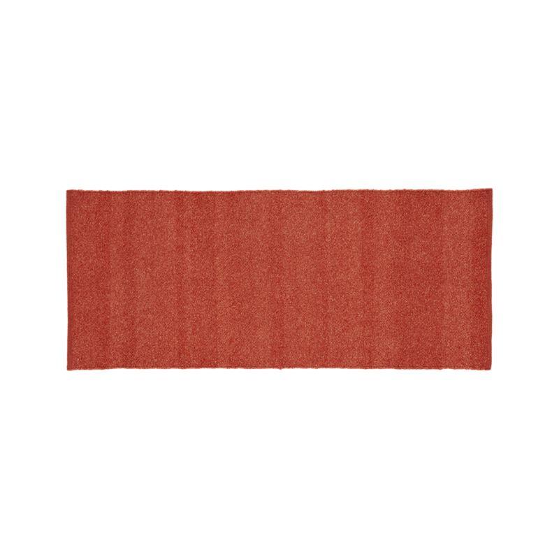 Kavi Rust Wool-Blend 2.5'x6' Rug Runner