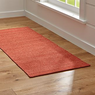 Kavi Rust Wool-Blend 2.5'x6' Rug Runner