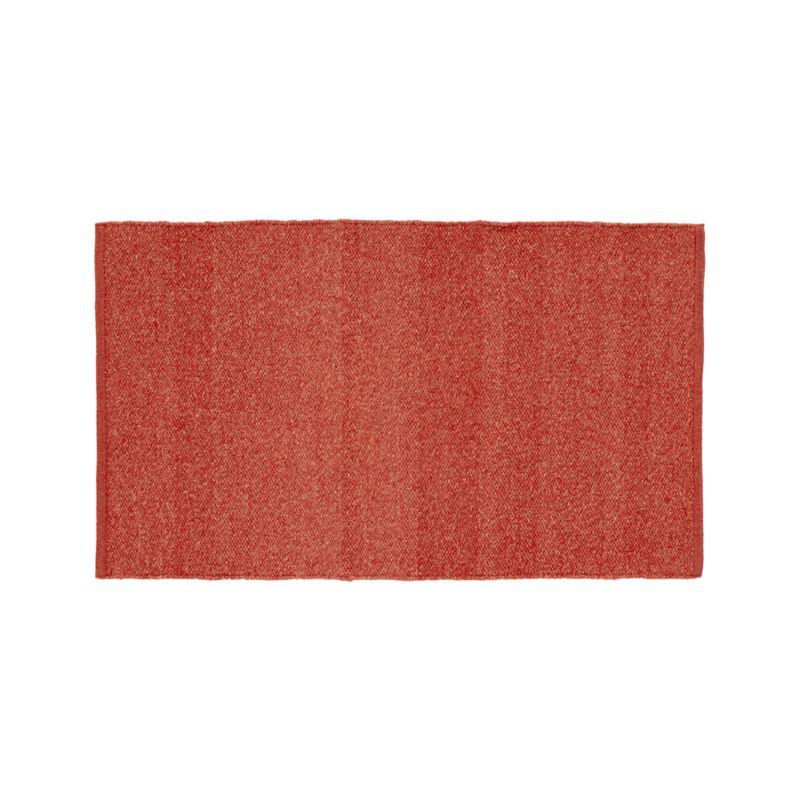 "Kavi Rust Wool-Blend 30""x50"" Rug"