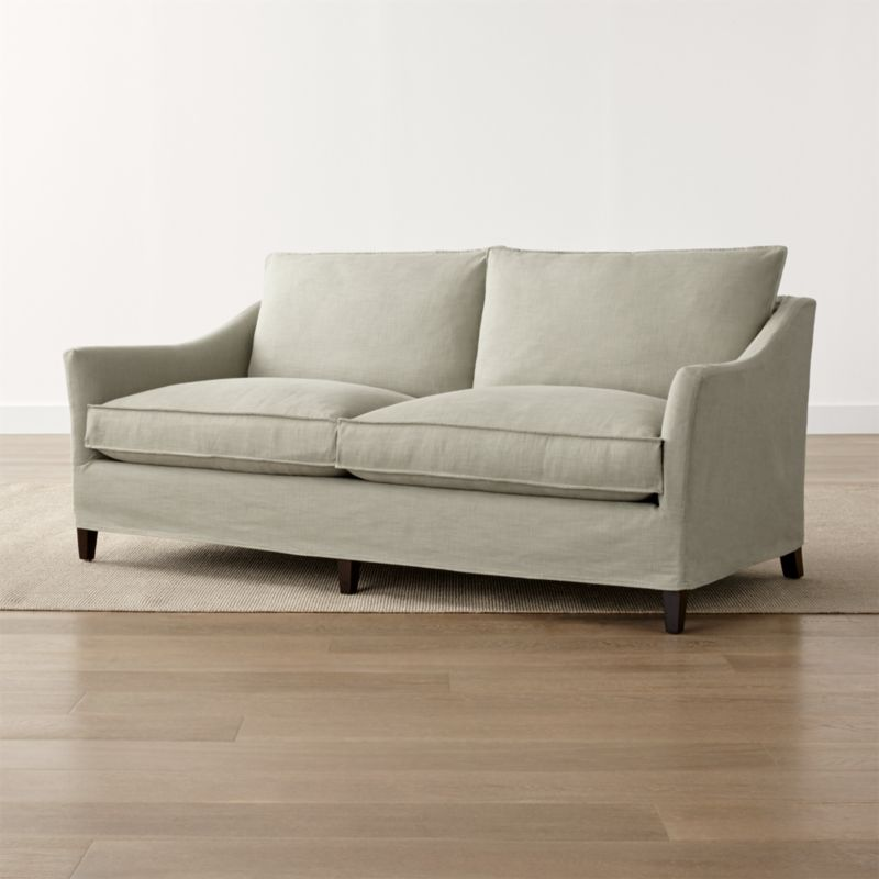 Keely 2-Seat Slipcovered Apartment Sofa
