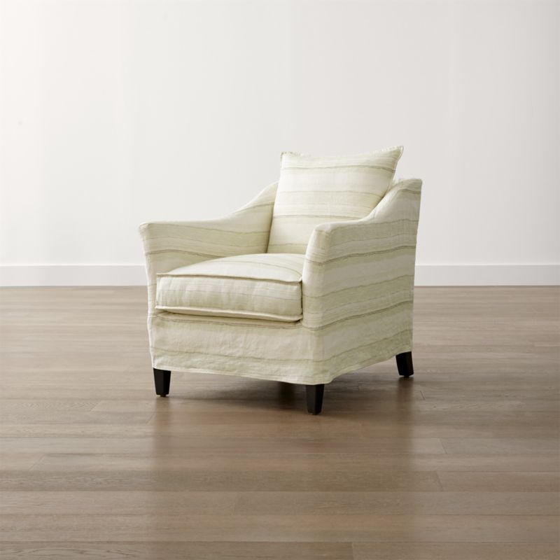 Striped Linen Slipcover Only for Keely Chair