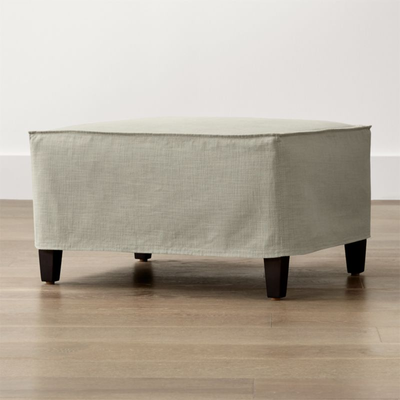 Solid Slipcover Only for Keely Ottoman