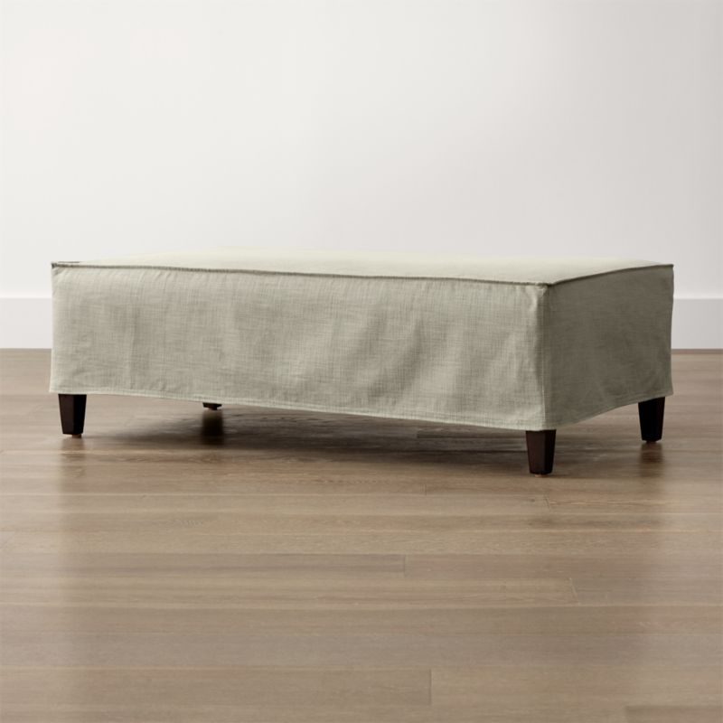 Solid Slipcover Only for Keely Ottoman and a Half