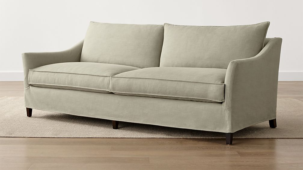 Keely Green Slipcover Sofa Crate And Barrel