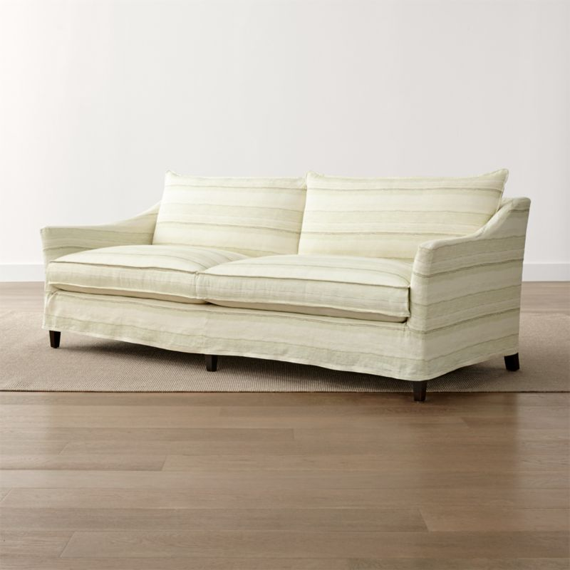 Striped Linen Slipcover Only for Keely 2-Seat Sofa