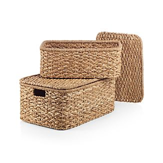 Kelby Rectangular Lidded Baskets