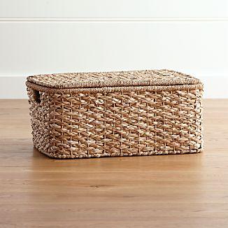 Kelby Large Rectangular Lidded Basket