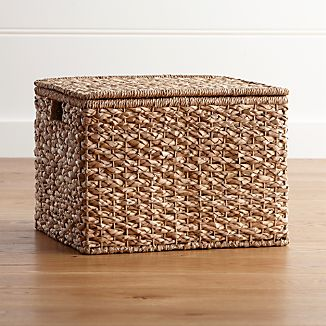 Kelby Large Square Lidded Basket
