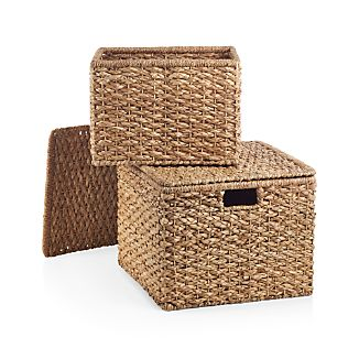 Kelby Square Lidded Baskets