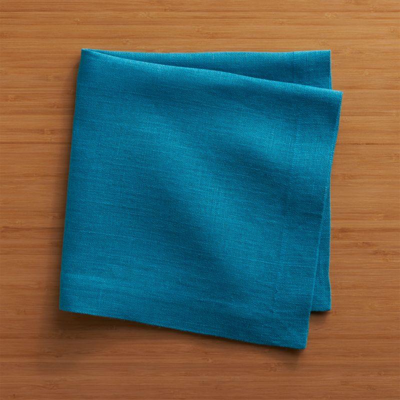 Heavier-weight linen napkin adds textural heft and versatile solid color to the casual table.<br /><br /><NEWTAG/><ul><li>100% linen</li><li>Machine wash, dry flat; warm iron as needed</li><li>Made in India</li></ul>