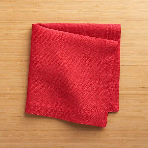 Kelsey Red Linen Napkin