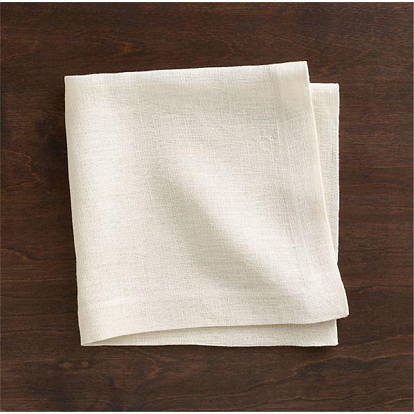 Kelsey White Linen Napkin
