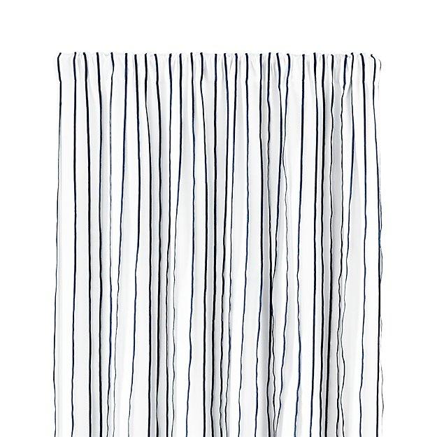 "Kendal 50""x108"" Blue Striped Curtain Panel"