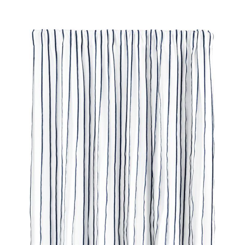 "Kendal 50""x84"" Blue Striped Curtain Panel"