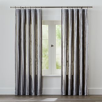 Kendal Grey Striped Curtains