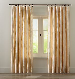 "Kendal 50""x84"" Yellow Striped Curtain Panel"