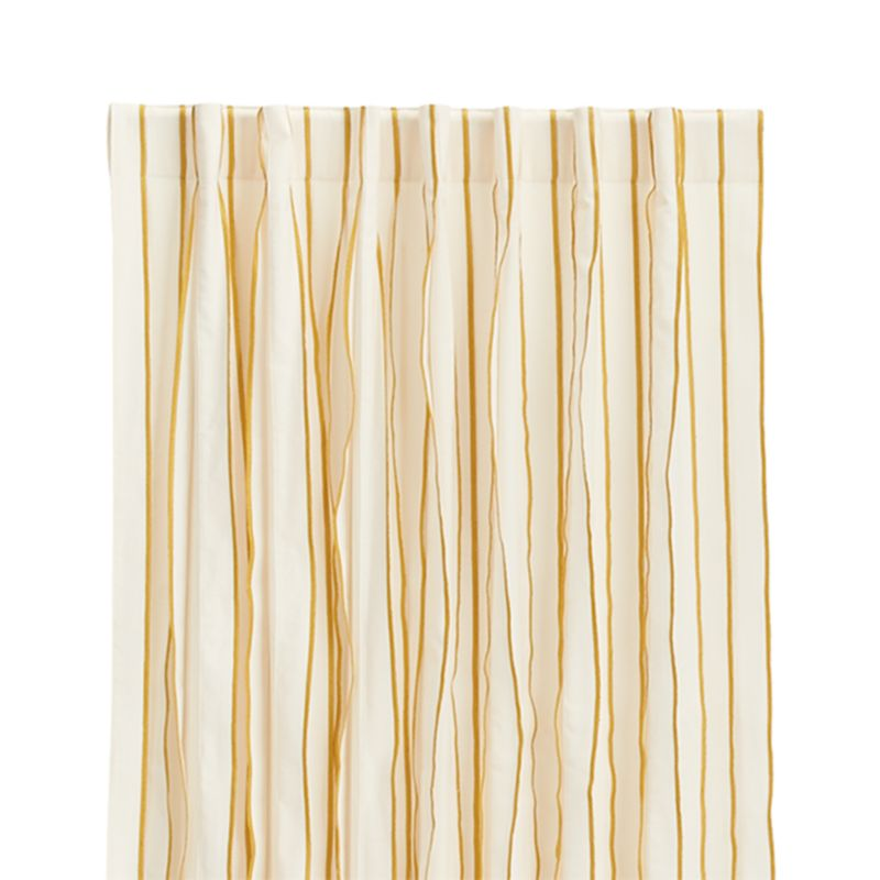 "Kendal 50""x96"" Yellow Striped Curtain Panel"