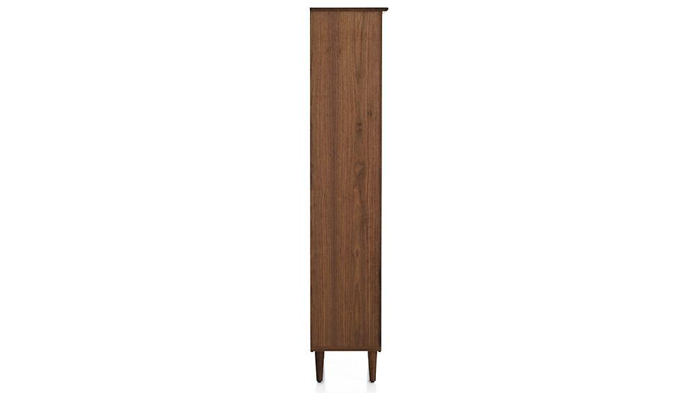 kendall walnut bookcase crate and barrel. Black Bedroom Furniture Sets. Home Design Ideas