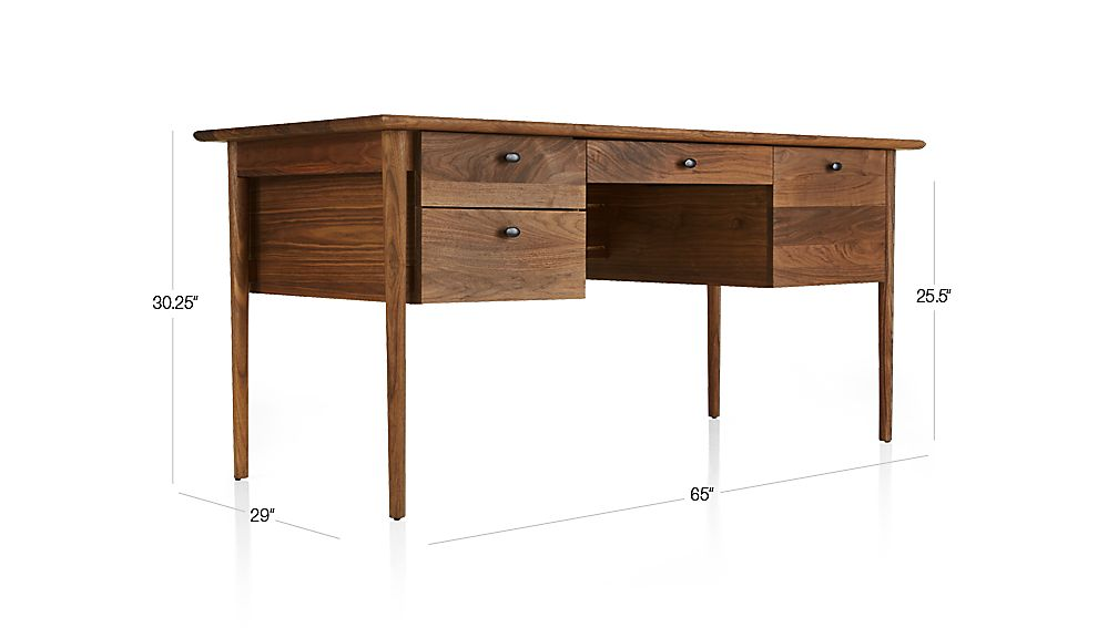Kendall walnut desk crate and barrel